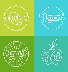 labels in trendy mono line style - premium quality vector image vector image