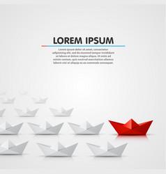 leader paper boat different vector image