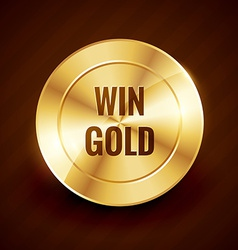 win gold label beautiful design vector image vector image