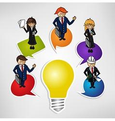 Business teamwork social idea people vector image