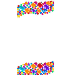 colorful balloons card template vector image