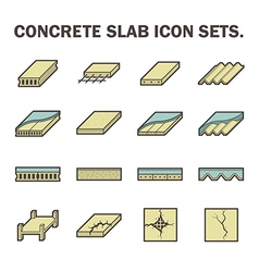 Concrete slab icon vector image vector image