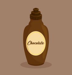 Cream chocolate bottle icon vector