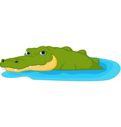 crocodile cartoon vector image vector image