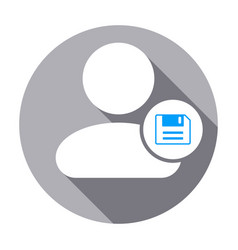info people save user icon vector image