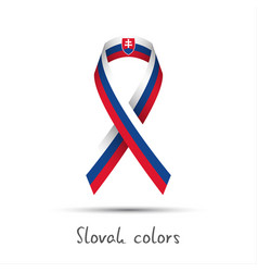 modern colored ribbon with the slovak tricolor vector image