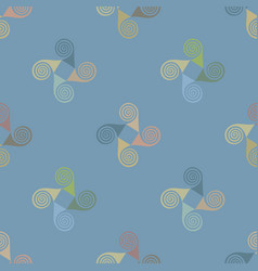 Naive childish seamless pattern with spirals vector