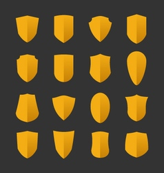 Set of shields in flat design style vector image