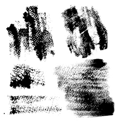Smears and fingerprints with paint vector image