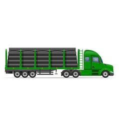 semi truck trailer concept 08 vector image vector image