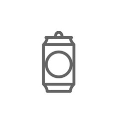 simple beer can line icon symbol and sign vector image vector image