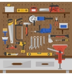 Work Tools Wall Composition vector image
