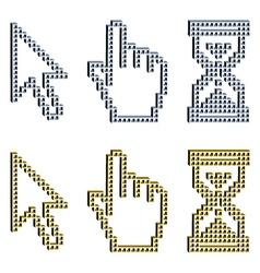 3D pixel cursors vector