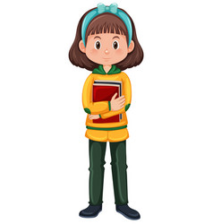 A brunette girl character vector