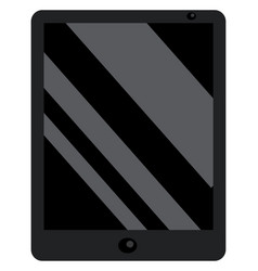 a modern black tough screen hand-held tablet vector image