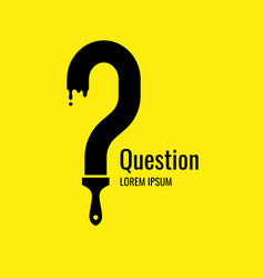 A poster with picture question mark frame vector