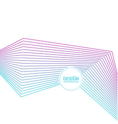 Abstract background with gradient color lines vector