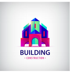 abstract building construction architect vector image
