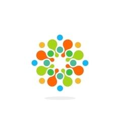 Abstract chem symbol medical logo water vector