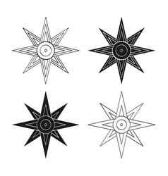Ancient sumerian symbol star ishtar vector