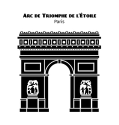 Arc de Triomphe Arch of Triumph of the Star in vector image