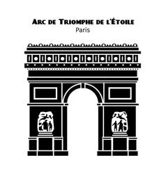 Arc de triomphe arch of triumph of the star vector