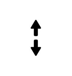 arrow icon black on white vector image