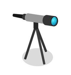 astronomy telescope isometric 3d icon vector image