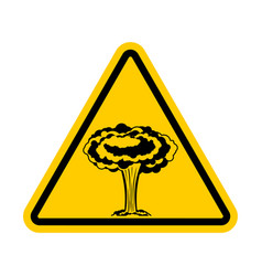 Attention war nuclear explosion is prohibited vector
