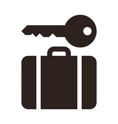Baggage storage - travel icon vector