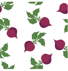 Beet pattern seamless vector