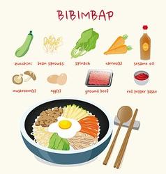 Bibimbap vector