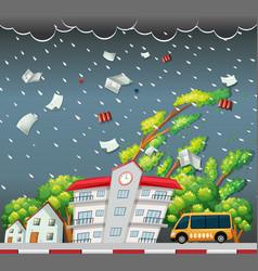big storm street scene vector image