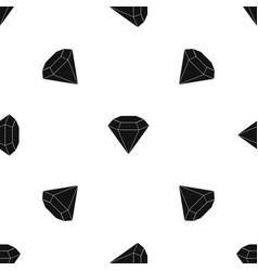 Brilliant gemstone pattern seamless black vector