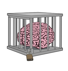 Caged mind vector image