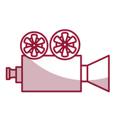 Cinema film camera icon vector