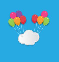 Cloud and balloon vector