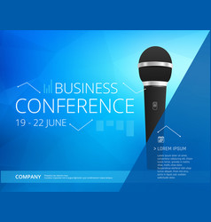 Conference template vector