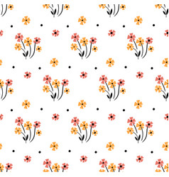 cute floral pattern in small flower motifs vector image
