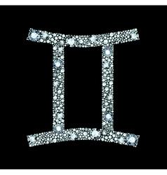 Diamond Gemini Symbol vector image