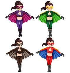 Flying girls vector image