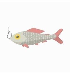 Fresh fish icon cartoon style vector image
