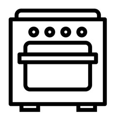 gas oven icon outline style vector image