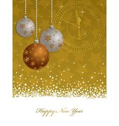 gold new years decoration vector image