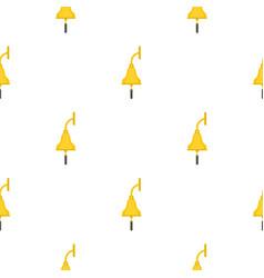 Golden ship bell pattern flat vector