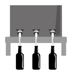 Grayscale beer dispensers icon image design vector