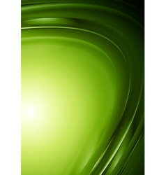 Green wavy design vector image