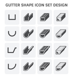 Gutter shape icon vector
