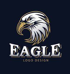 Hawk eagle head usa americs logo mascot 14 vector