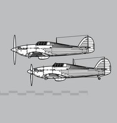 hawker hurricane vector image